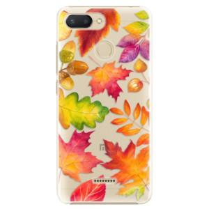 Plastové pouzdro iSaprio Podzimní Lístečky na mobil Xiaomi Redmi 6