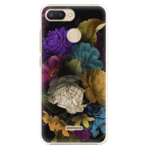 Plastové pouzdro iSaprio Temné Květy na mobil Xiaomi Redmi 6