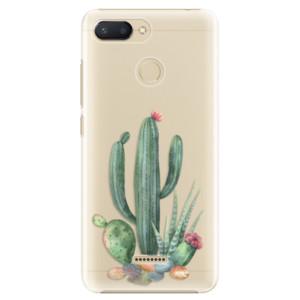 Plastové pouzdro iSaprio Kaktusy 02 na mobil Xiaomi Redmi 6