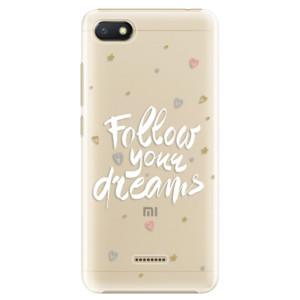 Plastové pouzdro iSaprio Follow Your Dreams bílý na mobil Xiaomi Redmi 6A