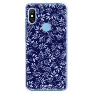 Plastové pouzdro iSaprio Blue Leaves 05 na mobil Xiaomi Redmi Note 6 Pro