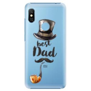Plastové pouzdro iSaprio Best Dad na mobil Xiaomi Redmi Note 6 Pro