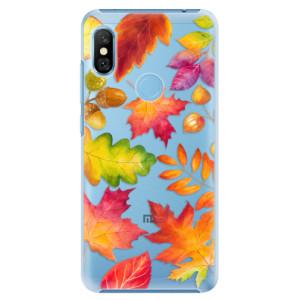 Plastové pouzdro iSaprio Podzimní Lístečky na mobil Xiaomi Redmi Note 6 Pro