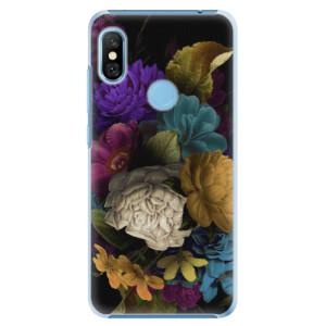 Plastové pouzdro iSaprio Temné Květy na mobil Xiaomi Redmi Note 6 Pro