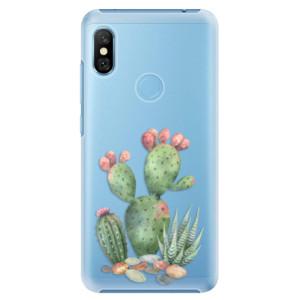 Plastové pouzdro iSaprio Kaktusy 01 na mobil Xiaomi Redmi Note 6 Pro