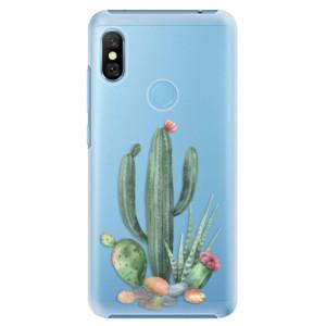 Plastové pouzdro iSaprio Kaktusy 02 na mobil Xiaomi Redmi Note 6 Pro