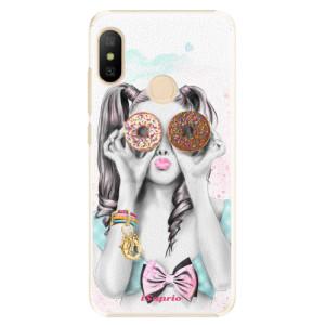 Plastové pouzdro iSaprio Donutky Očiska 10 na mobil Xiaomi Mi A2 Lite