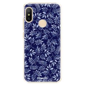 Plastové pouzdro iSaprio Blue Leaves 05 na mobil Xiaomi Mi A2 Lite