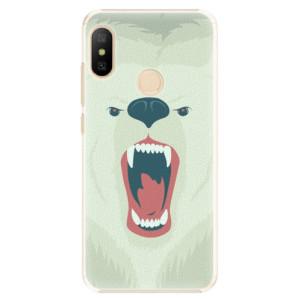 Plastové pouzdro iSaprio Naštvanej Medvěd na mobil Xiaomi Mi A2 Lite
