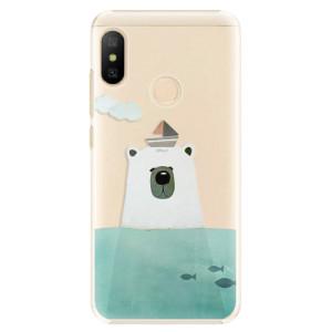 Plastové pouzdro iSaprio Medvěd s Lodí na mobil Xiaomi Mi A2 Lite