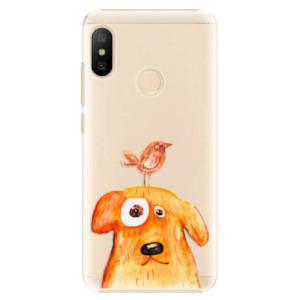 Plastové pouzdro iSaprio Pejsek a Ptáček na mobil Xiaomi Mi A2 Lite