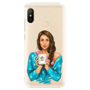 Plastové pouzdro iSaprio Coffee Now Brunetka na mobil Xiaomi Mi A2 Lite