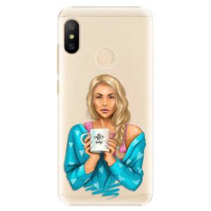 Plastové pouzdro iSaprio Coffee Now Blondýna na mobil Xiaomi Mi A2 Lite