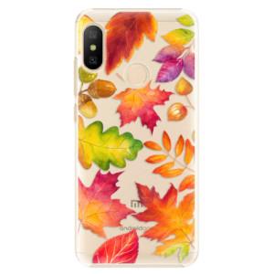 Plastové pouzdro iSaprio Podzimní Lístečky na mobil Xiaomi Mi A2 Lite
