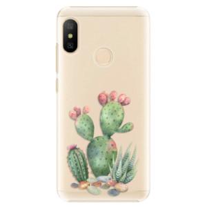 Plastové pouzdro iSaprio Kaktusy 01 na mobil Xiaomi Mi A2 Lite