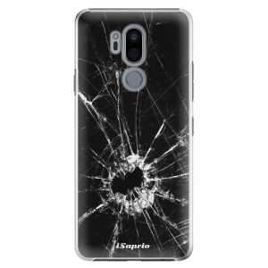 Plastové pouzdro iSaprio Broken Glass 10 na mobil LG G7