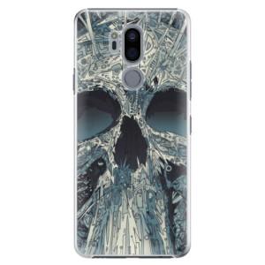 Plastové pouzdro iSaprio Abstract Skull na mobil LG G7