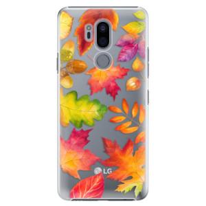 Plastové pouzdro iSaprio Podzimní Lístečky na mobil LG G7