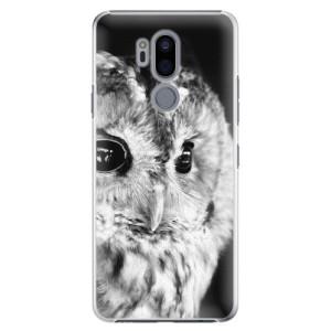 Plastové pouzdro iSaprio BW Sova na mobil LG G7