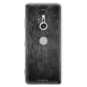 Plastové pouzdro iSaprio Black Wood 13 na mobil Sony Xperia XZ3