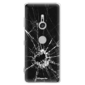 Plastové pouzdro iSaprio Broken Glass 10 na mobil Sony Xperia XZ3