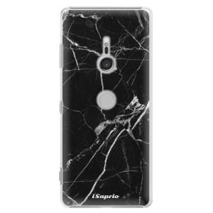 Plastové pouzdro iSaprio Black Marble 18 na mobil Sony Xperia XZ3