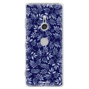 Plastové pouzdro iSaprio Blue Leaves 05 na mobil Sony Xperia XZ3