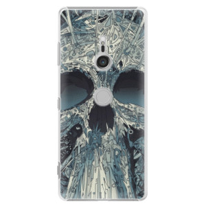 Plastové pouzdro iSaprio Abstract Skull na mobil Sony Xperia XZ3