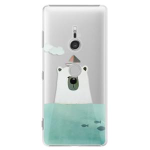 Plastové pouzdro iSaprio Medvěd s Lodí na mobil Sony Xperia XZ3