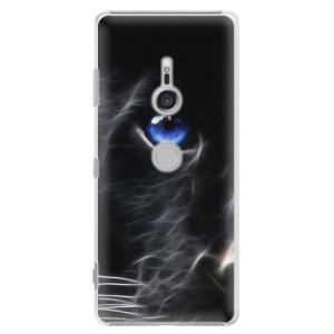 Plastové pouzdro iSaprio Black Puma na mobil Sony Xperia XZ3