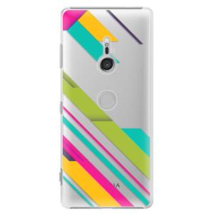 Plastové pouzdro iSaprio Barevné Pruhy 03 na mobil Sony Xperia XZ3