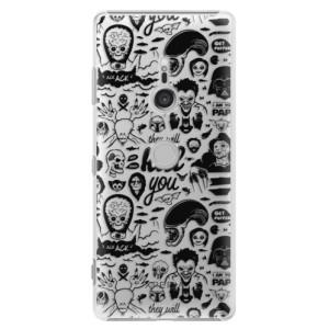 Plastové pouzdro iSaprio Komiks 01 black na mobil Sony Xperia XZ3