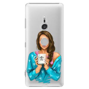 Plastové pouzdro iSaprio Coffee Now Brunetka na mobil Sony Xperia XZ3