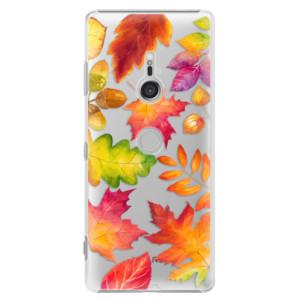 Plastové pouzdro iSaprio Podzimní Lístečky na mobil Sony Xperia XZ3