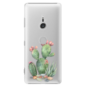 Plastové pouzdro iSaprio Kaktusy 01 na mobil Sony Xperia XZ3