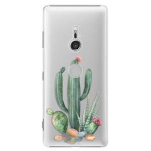 Plastové pouzdro iSaprio Kaktusy 02 na mobil Sony Xperia XZ3