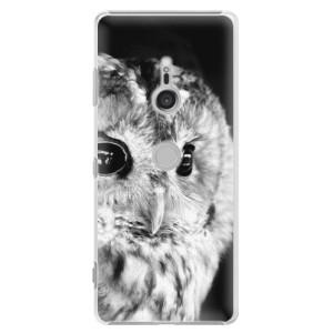 Plastové pouzdro iSaprio BW Sova na mobil Sony Xperia XZ3