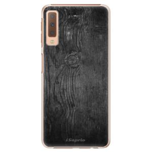Plastové pouzdro iSaprio Black Wood 13 na mobil Samsung Galaxy A7 (2018)