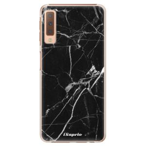 Plastové pouzdro iSaprio Black Marble 18 na mobil Samsung Galaxy A7 (2018)