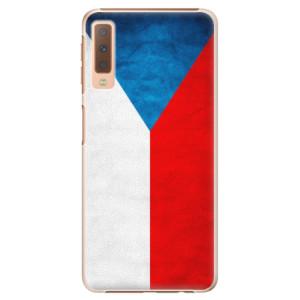 Plastové pouzdro iSaprio Česká Vlajka na mobil Samsung Galaxy A7 (2018)