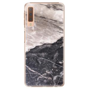 Plastové pouzdro iSaprio BW Mramor na mobil Samsung Galaxy A7 (2018)