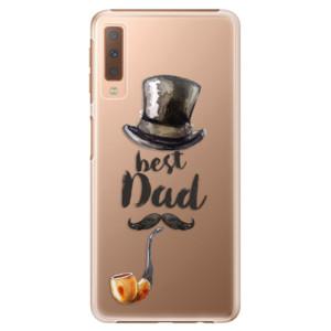 Plastové pouzdro iSaprio Best Dad na mobil Samsung Galaxy A7 (2018)