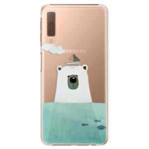 Plastové pouzdro iSaprio Medvěd s Lodí na mobil Samsung Galaxy A7 (2018)