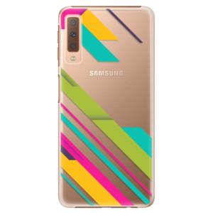 Plastové pouzdro iSaprio Barevné Pruhy 03 na mobil Samsung Galaxy A7 (2018)