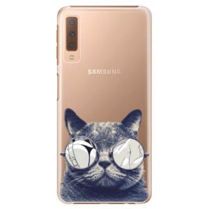 Plastové pouzdro iSaprio Šílená Číča 01 na mobil Samsung Galaxy A7 (2018)