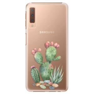 Plastové pouzdro iSaprio Kaktusy 01 na mobil Samsung Galaxy A7 (2018)