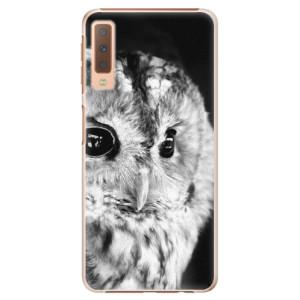 Plastové pouzdro iSaprio BW Sova na mobil Samsung Galaxy A7 (2018)