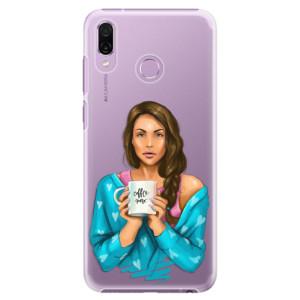 Plastové pouzdro iSaprio Coffee Now Brunetka na mobil Honor Play