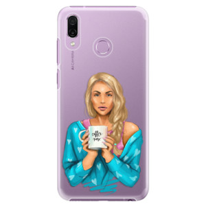 Plastové pouzdro iSaprio Coffee Now Blondýna na mobil Honor Play