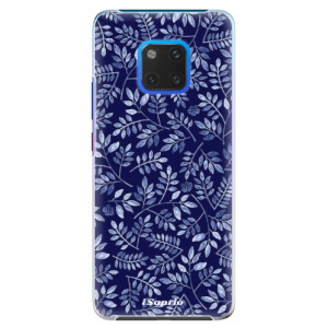 Plastové pouzdro iSaprio Blue Leaves 05 na mobil Huawei Mate 20 Pro